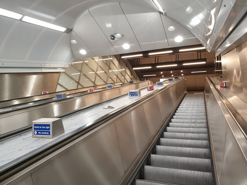 Waterloo Underground Station, York Road entrance. New ceilings and Glazing installed by our team.